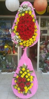 Çift katlı düğün nikah açılış çiçek modeli  Siirt çiçekçi telefonları