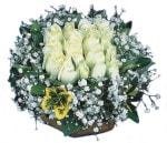 Siirt çiçekçi telefonları  Beyaz harika bir gül sepeti