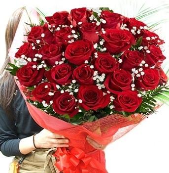 Kız isteme çiçeği buketi 33 adet kırmızı gül  Siirt çiçek servisi , çiçekçi adresleri