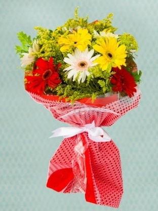 Karışık Gelbera Buketi  Siirt çiçek yolla