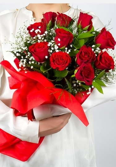 Aşk Gülleri 11 Adet kırmızı gül buketi  Siirt güvenli kaliteli hızlı çiçek