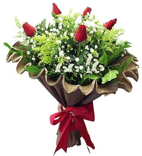 5 adet gülden buket  Siirt çiçek servisi , çiçekçi adresleri