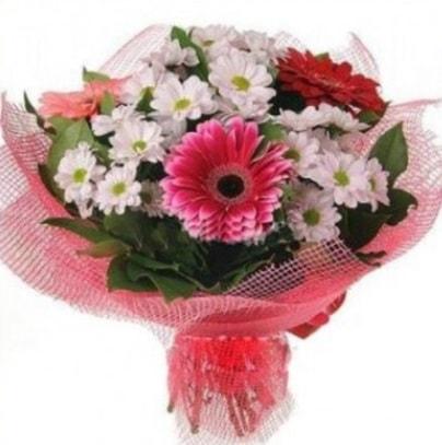 Gerbera ve kır çiçekleri buketi  Siirt çiçek satışı
