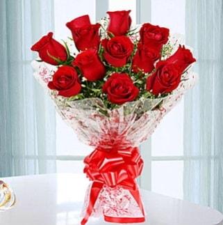 11 adet kırmızı gülden görsel şık buket  Siirt çiçek yolla , çiçek gönder , çiçekçi