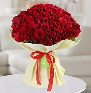 101 adet kırmızı gül buketi koca demet  Siirt çiçek satışı
