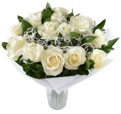 15 beyaz gül buketi sade aşk  Siirt yurtiçi ve yurtdışı çiçek siparişi
