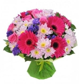 Karışık mevsim buketi mevsimsel buket  Siirt yurtiçi ve yurtdışı çiçek siparişi