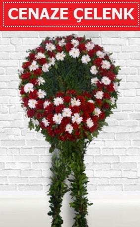 Kırmızı Beyaz Çelenk Cenaze çiçeği  Siirt çiçek online çiçek siparişi