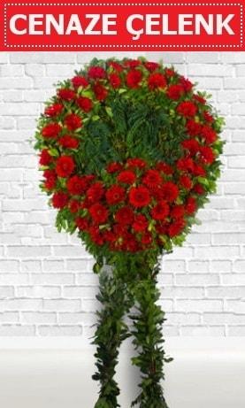 Kırmızı Çelenk Cenaze çiçeği  Siirt çiçek online çiçek siparişi