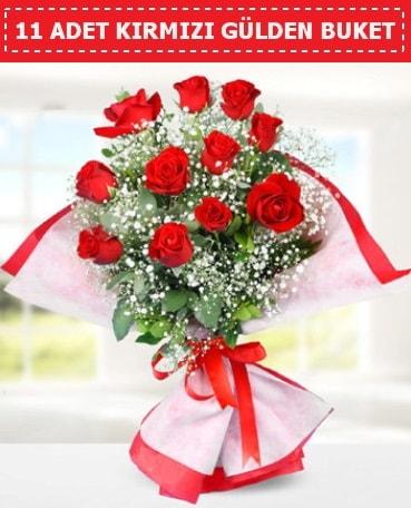 11 Adet Kırmızı Gül Buketi  Siirt çiçek satışı