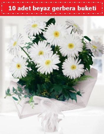 10 Adet beyaz gerbera buketi  Siirt online çiçekçi , çiçek siparişi