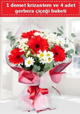 Krizantem ve Gerbera Buketi  Siirt çiçek yolla