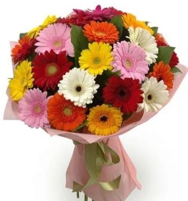 Karışık büyük boy gerbera çiçek buketi  Siirt yurtiçi ve yurtdışı çiçek siparişi