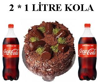 6 ile 9 kişilik Muz Çikolata 2 * 1 litre kola